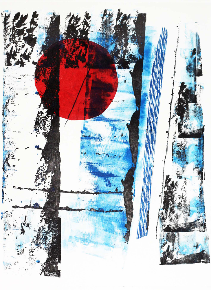 Red Orb Monotype
